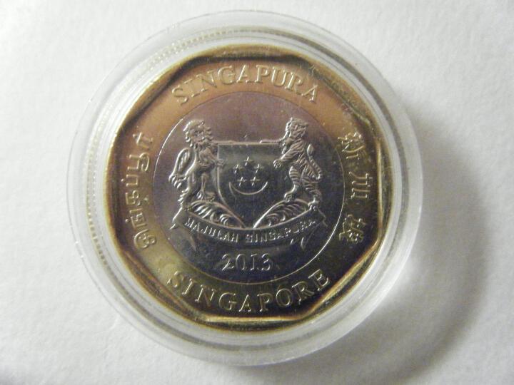 【甲源文化】亚洲- 新加坡硬币  非全新卷拆品相 外国硬币 2013-2016年 5枚(5分-1元)一套X-1 晒单图