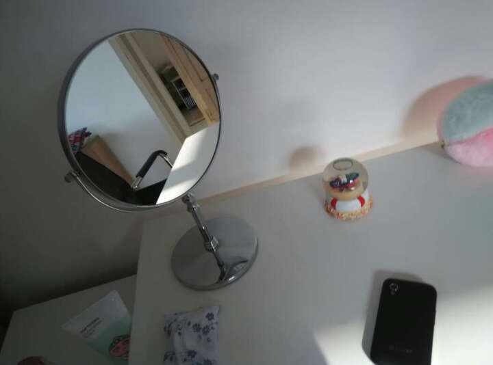 佰多福化妆镜 时尚化妆双面镜 可放大镜子 家居台式镜 欧式双面梳妆镜子 清晰公主镜子 8英寸 晒单图