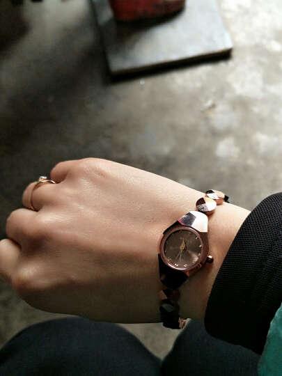 摩尔(moyee)韩版玫瑰金女士手表防水钨钢女表时尚款手链表女学生情侣手表 9081L巴黎玫瑰金色 晒单图