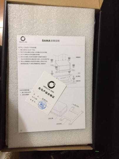 先马(SAMA)冰河240 CPU散热器(双平台/一体式水冷/陶瓷轴承水泵/液压轴承PWM风扇/安静/炫酷蓝灯) 晒单图