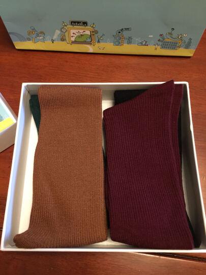 铂曼丽兹 袜子女士堆堆袜 秋冬新款日系韩国可爱女袜森系中筒短靴棉袜4双礼盒装 随机4双装 备注颜色 晒单图
