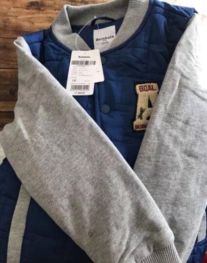 巴拉巴拉童装男童棉衣棒球服中大童棉服冬新款加厚儿童棉袄外套男 浅土黄 140 晒单图
