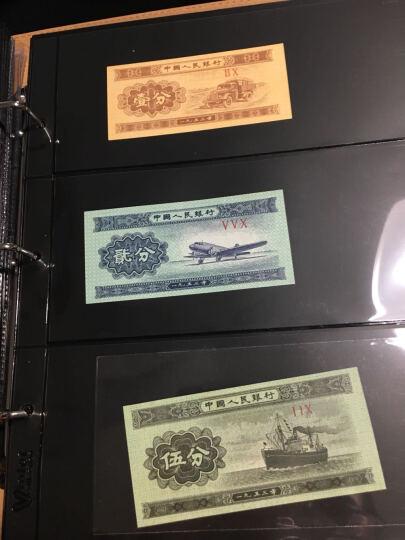 聚优尚 高档纸币硬币混装册 活页型钱币册集币册 高铁纪念币收藏册空册 60枚纸币352枚硬币册(3孔黑底纸币内页) 晒单图