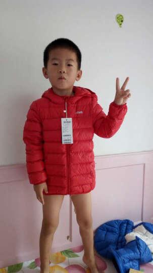 未来之星(Future star) 童装男童羽绒服轻薄秋冬新款儿童羽绒服中大儿童短款轻薄 桔 色 160 晒单图