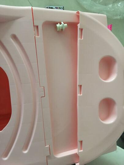 康乐川沐源 加盖成人泡澡桶 加厚塑料浴桶 家用浴缸浴盆泡澡桶 儿童浴桶 熏蒸浴桶 浅蓝 晒单图
