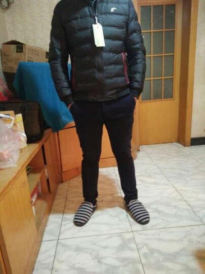 特工吉普(TEGONGJEEP)时尚 羽绒服男 精品秋冬季新款外套 男装休闲款加厚修身保暖 黑色 XL/175 晒单图