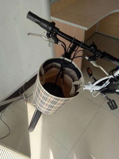 朗汇(LONGWISE) 电动自行车同款折叠电动车助力自行车锂电池便携电单车迷你车電動車 T05-蓝-助力续航25-30公里 晒单图