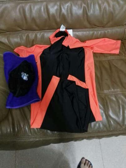 鲨巴特(SBART) 泳衣女连体潜水冲浪防晒修身保守短袖带胸垫泳衣 1007女橙色有胸垫 M 晒单图