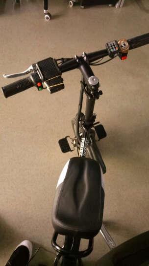 折叠电动自行车锂电成人男女式迷你小型学生超轻便携滑板双人亲子代步电瓶车 48V 黑色48V25A助力续航约110-150 晒单图