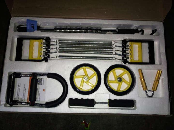 双牌 健身训练套装 电镀臂力器/拉力器/腕力器/健腹轮/握力器 七件套/臂力器40KG 晒单图