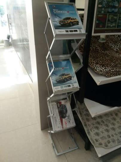 资料架杂志架报刊架A4展架铝箱包装便携展会宣传架落地书报展示架亚克力 A4资料架+牛津包 晒单图