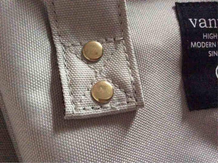 vanwalk 时尚妈咪包双肩背包女新款韩版学院风简约中学生书包女包手提包背包潮v1137 姜黄色 晒单图