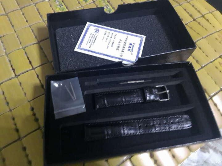 世辉(shihui) 手表皮表带男女真皮表带天梭雷达精工海鸥罗西尼阿玛尼ck钟表牛皮表带通用真皮表链 咖啡色皮带针扣 接口宽度20MM 晒单图