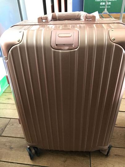 igtt行李箱万向轮旅行箱男26寸新品铝框密码箱登机箱20寸拉杆箱女24寸学生皮箱防刮包角 深蓝色(高端铝框款) 29 晒单图
