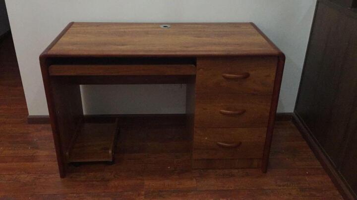 瑞象实木电脑桌带书架橡木实木框台式家用简约现代