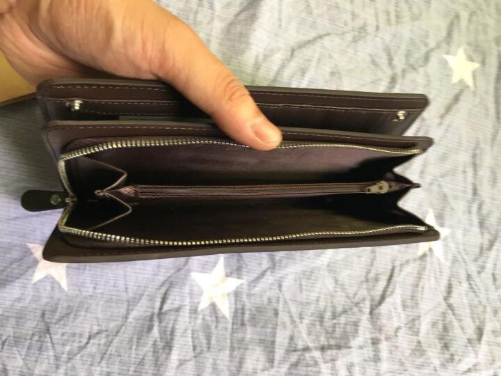 BROWNEFOX 钱包 男 长款牛皮多功能拉链钱夹卡包手包手拿包 D-NB9806 古铜金D-NB9806 晒单图