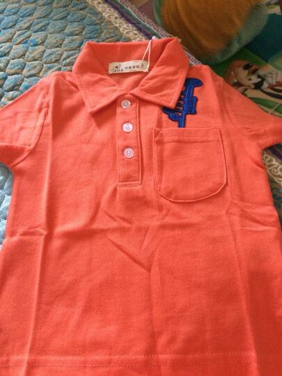 印象童年童装新款男童短袖上衣IK品牌儿童Polo衫宝宝休闲夏装 橙色 100建议身高90cm-98cm左右 晒单图