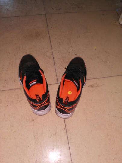 美克秋季新款正品男鞋轻便透气时尚跑步鞋防滑耐磨男士运动鞋跑鞋B861918 黑色/桔红 43 晒单图