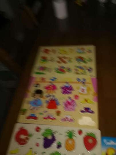 网童奇贝 木质拼板早教拼图幼儿童木制玩具拼图板男孩女宝宝积木0-1-6岁 系鞋带板 C款 晒单图
