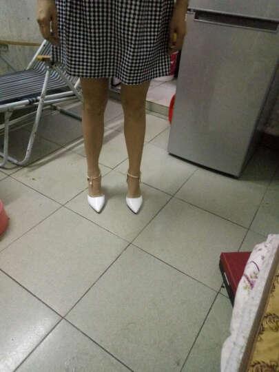 范思蒙  新款单鞋女时尚舒适优雅高跟鞋 白色 37 晒单图