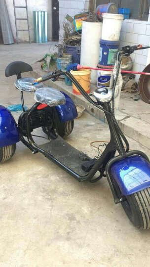 忝臻三轮电动车自行车女士电动摩托车1000W电机轴传动差速器前后碟刹锂电池三轮电动车 蓝色 1000W尤奈特差速电机--60V20A锂电池 晒单图