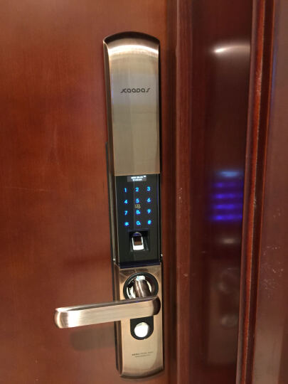 凯迪仕(KAADAS) 凯迪仕 指纹锁密码锁智能锁电子锁家用防盗门锁 9113 红古铜双开门 晒单图