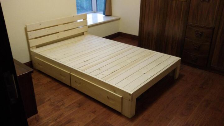 实木床松木板式床单人床双人床卧室家具床硬板