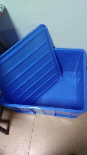 齐鲁安然 带盖周转箱 收纳箱 塑料筐 五金工具箱 周转框 塑胶箱水箱食品箱储物箱 分类盒 蓝色 6#周转箱 540*420*240mm 晒单图