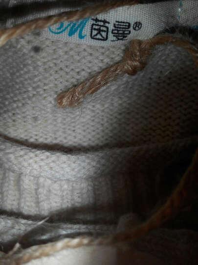 茵曼简约撞色几何提花圆领长袖套头毛衣范玮琪同款 肉粉色 M 晒单图