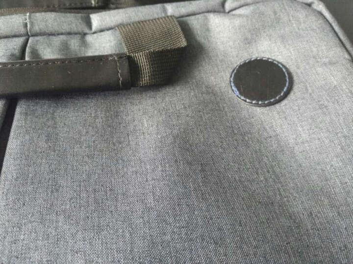 惠普(HP)13.1-14.0英寸男女士商务电脑包时尚横款公文包轻薄手提包斜挎包F9G96AA灰色 晒单图