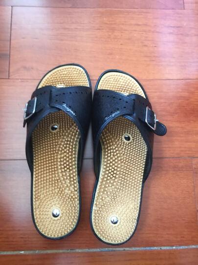 好多福(OTAFUKU)健康保健磁疗601缓解腰痛膝盖痛健康磁疗鞋磁气鞋保健男士按摩拖鞋日本制 金茶色 8(25.0--25.5) 晒单图