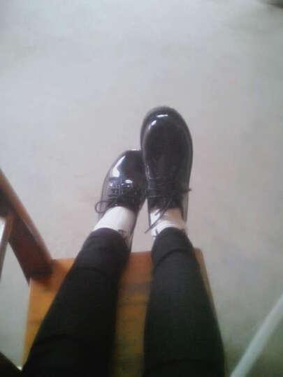 学院风春季新款低帮大头小皮鞋英伦复古圆头娃娃鞋系带女鞋学生鞋-37 厚底漆皮黑色 38 晒单图