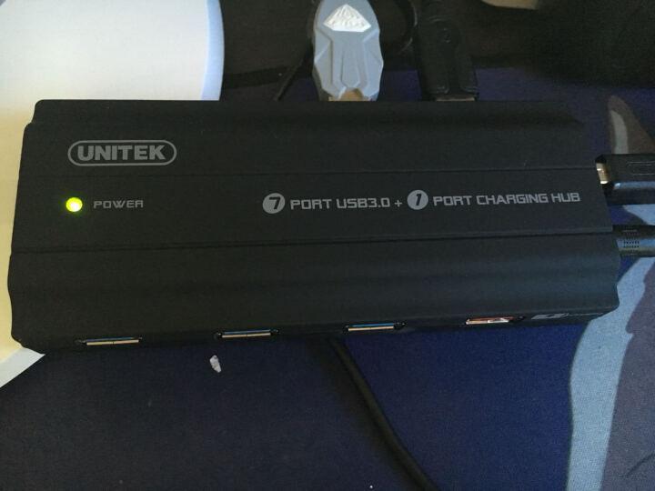 优越者(UNITEK)USB3.0分线器120CM 高速7口HUB集线器 笔记本电脑多接口转换器带电源充电功能Y-3176BK 晒单图