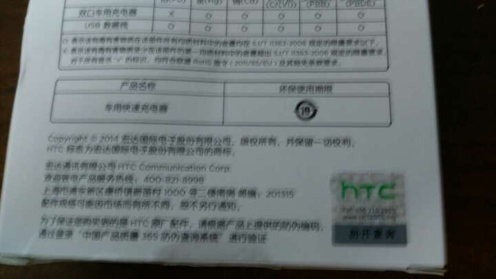 HTC CC C77 20W双口 充电器/车充 黑色 晒单图