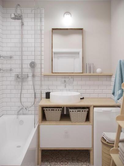 简非瓷砖 地砖厨房卫生间墙砖釉面阳台面包砖地铁砖100 100*200斜边亮光白 其它 晒单图