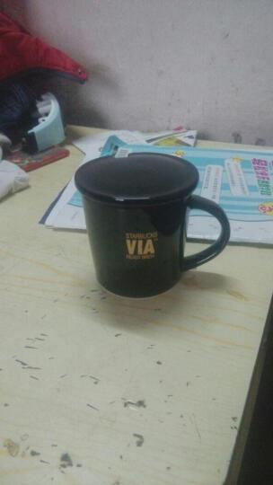 星巴克风格杯子via黑色速溶咖啡杯创意马克杯陶瓷杯水杯 VIA杯+不锈钢勺+杯垫+杯盖 晒单图