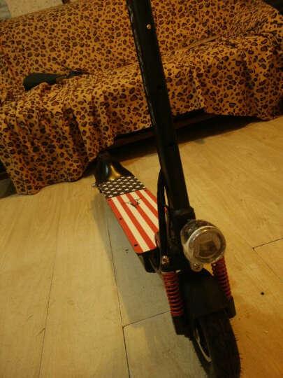 升特shengte电动滑板车 成人便携迷你可折叠锂电电动车 电瓶车 城市休闲代步车 黑色 晒单图