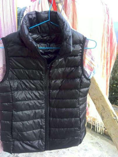 OuRoLine 羽绒服女轻薄短款马甲背心 韩版外套 修身显瘦薄款 RA010 浅绿色 M 晒单图