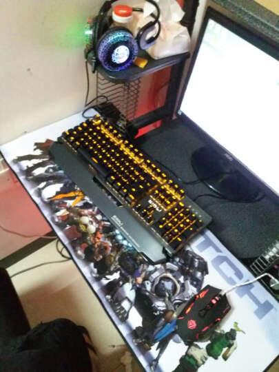 磁动力(ZIDLI) CK500机械键盘鼠标套装青轴lol笔记本游戏键鼠小智miss外设店 暴走104键黑灰色青轴+V7无声静音黑鼠标 晒单图