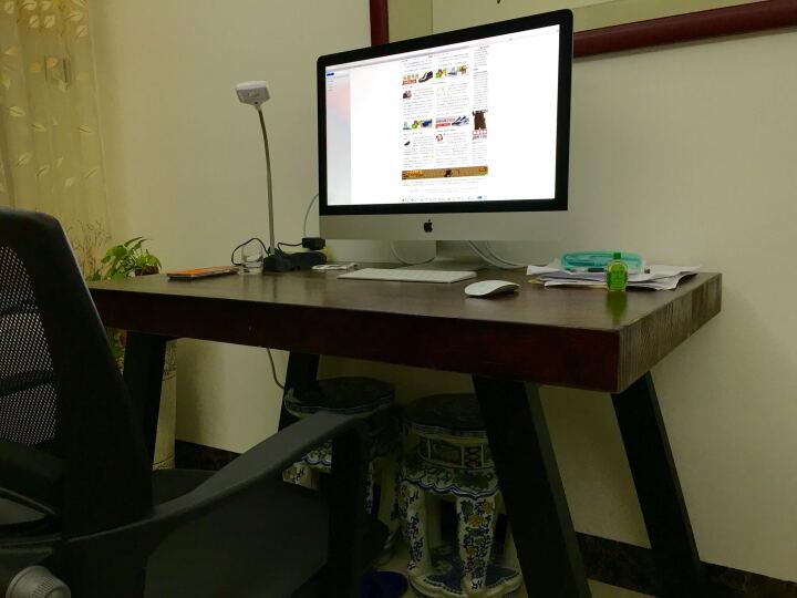 小铁匠 实木办公桌家用电脑桌书桌写字桌酒吧咖啡厅特色职场会议桌泡茶桌工作台可定制 长宽高120*60*75CM木板厚5CM 晒单图