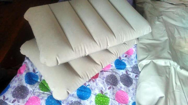 阿尔法靠背充气床垫双人可折叠气垫床 午休床便携充气床垫加厚野营垫 152CM宽米色床+靠背+送10样泵蓄电充抽电泵 晒单图