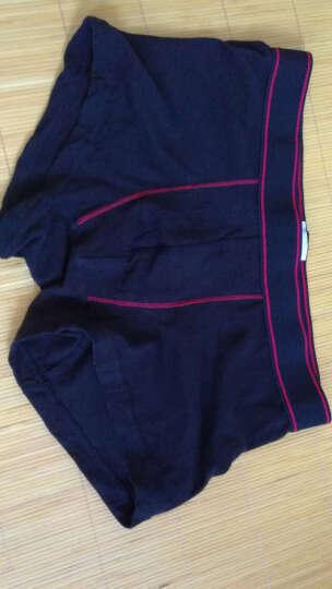 美特斯邦威内裤男士舒适撞色弹力柔软透气低腰平角内裤265724 黑色组 185/110 晒单图