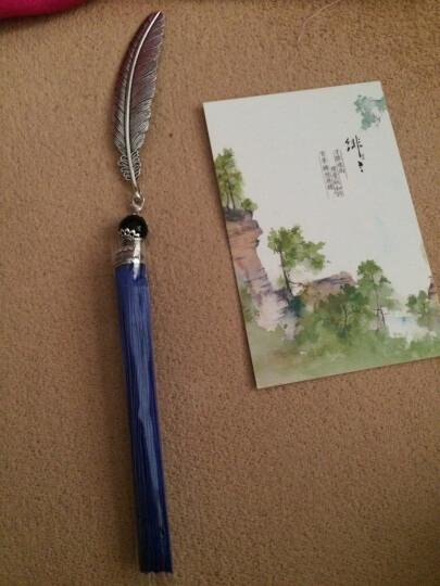 物有物语 金属书签 书签创意套装古风流苏礼盒装古典传统中国风 创意礼品送好友送朋友礼物 蓝 晒单图