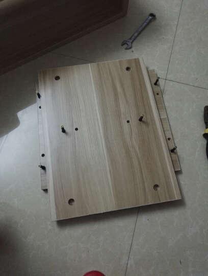 木林佳 电视柜简约电视机柜组合日式伸缩电视柜茶几组合套装 升级款黑加白色2.5加厚 长150宽30高43 cm 晒单图