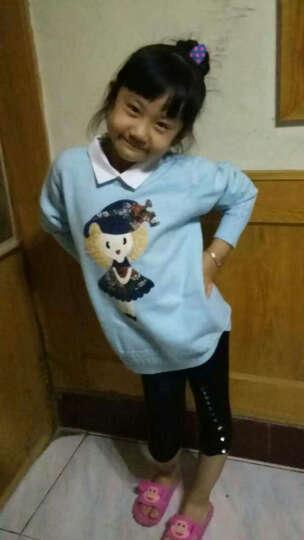 小牧爱家 童装女童毛衣假两件小女孩冬季打底小衫儿童针织衫2017秋冬新款潮 白领娃娃蓝色 160cm 晒单图