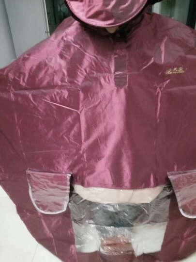 天堂电动车雨衣 单双人两用摩托车雨披男女成人加大加厚电瓶车电动自行车雨衣 红色 晒单图