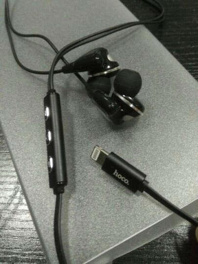 浩酷 Lightning接口苹果耳机入耳式线控音乐运动认证 适用于iPhone7 黑色-音乐无麦版 晒单图