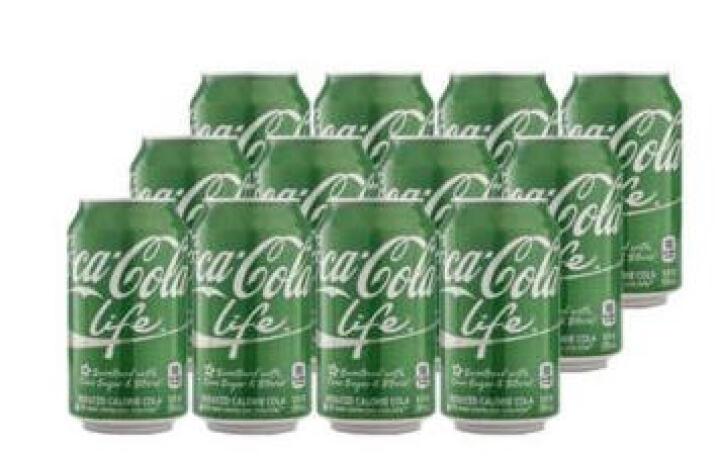 【中粮我买网】COCA-COLA可口可乐 乐活汽水绿可乐355ml*12(美国进口) 晒单图