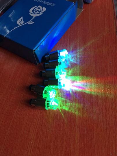 那卡汽车风火轮双感轮胎灯气门嘴灯气门芯轮毂灯摩托车自行车七彩装饰灯 绿色风火轮单个(带3粒电池) 晒单图