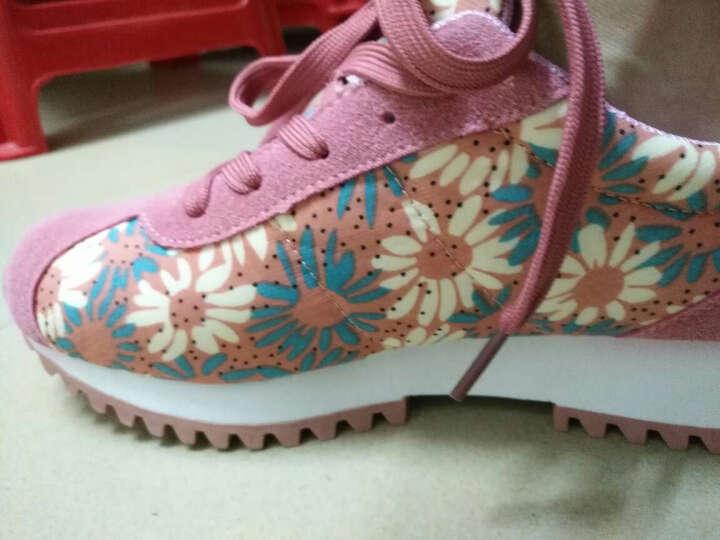 【79元选两双】环球(HUANQIU)  新款韩版休闲鞋女 文艺风运动鞋女 碎花跑步鞋女 水红 37 晒单图